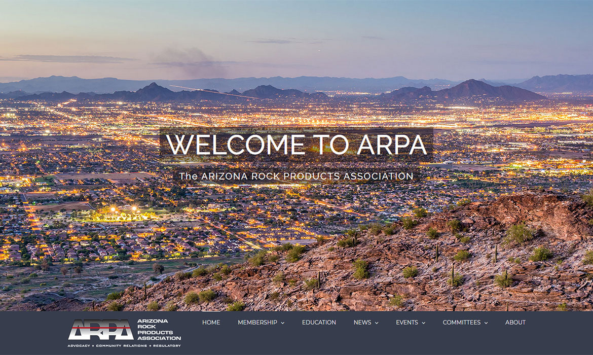 ARPA - Home Page Screen Shot
