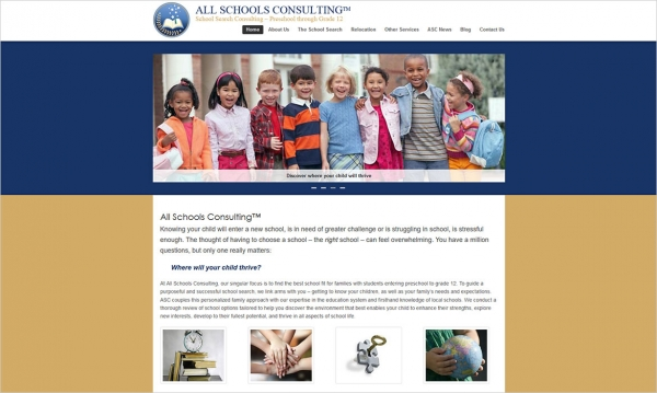 All Schools Consulting - Home Page Screen Shot
