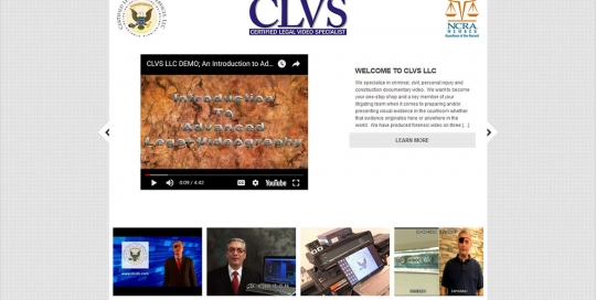 CLVS LLC - Home Page Screen Shot