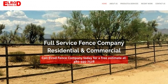 Elrod Fence Company - Home Page Screen Shot