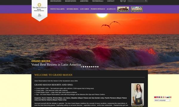 Grand Mayan - Home Page Screen Shot