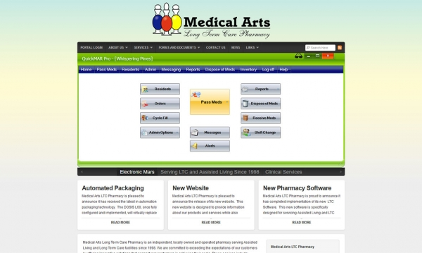 Medical Arts Long Term Care Pharmacy - Home Page Screen Shot