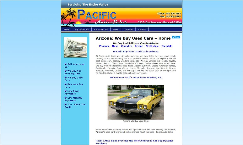 Pacific Auto Sales – Creative Developments