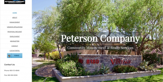 Peterson Company - Home Page Screen Shot