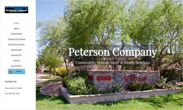 Peterson Company - Home Page Screen Shot