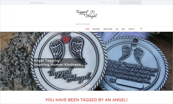 Tagged By An Angel - Home Page Screen Shot