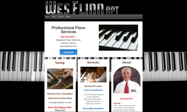 Wes Flinn RPT - Home Page Screen Shot