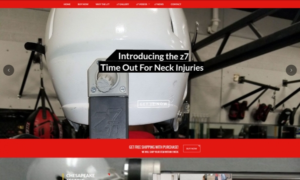 z7 Neck Brace - Home Page Screen Shot
